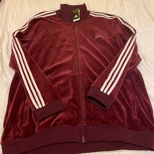 NWT Adidas beckenbauer velour track jacket 2XL